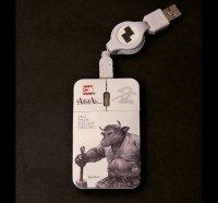 SAMURAI ANIMALS-  Mouse - Black Wall the Bull Samurai *Stopped Production.