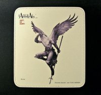 SAMURAI ANIMALS-  Leather Mouse Pad  Arrow  the Bird Samurai *Stopped Production