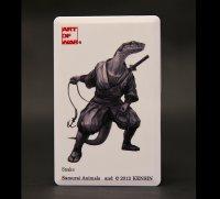 SAMURAI ANIMALS-  Card Type USB Flash Drive (4GB) Snake  the Snake Samurai *Stopped Production.