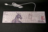SAMURAI ANIMALS-  Keyboard - Blue Dragon  the Dragon Samurai *Stopped Production.