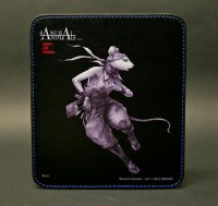 SAMURAI ANIMALS-  Leather Mouse Pad - Hanzo the Rat Samurai *Stopped Production