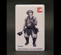 SAMURAI ANIMALS-  Card Type USB Flash Drive (4GB) Brahman  the Ape Samurai *Stopped Production