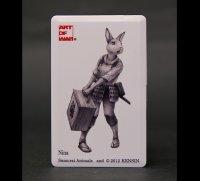SAMURAI ANIMALS-  Card Type USB Flash Drive (4GB) Nina  the Rabbit Samurai *Stopped Production.
