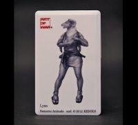 SAMURAI ANIMALS-  Card Type USB Flash Drive (4GB) Lynn  the Sheep Samurai *Stopped Production.