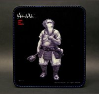 SAMURAI ANIMALS-  Leather Mouse Pad Brahman  the Ape Samurai *Stopped Production