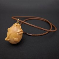 No.366 Beherit Pendant -2014 Wood Carving Leather String Version- *Sold Out