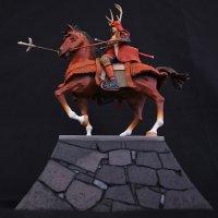 Historical Equestrian Statue- Sanada Yukimura's Last Stand at Osaka Castle