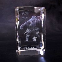 Image Premium Laser Crystal Figure Collection: White Tiger