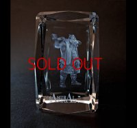 Premium Laser Crystal Figure Collection: Silver Ax
