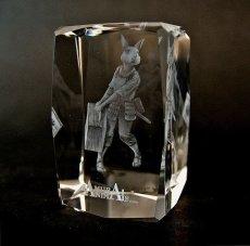 Photo2: Premium Laser Crystal Figure Collection: Nina (2)