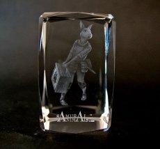 Photo1: Premium Laser Crystal Figure Collection: Nina (1)