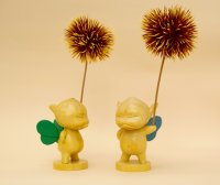 No. 285 Kuri Puck (ANGRY)- Hinoki/ Blue Wing Ver. & Green Wing Ver. (2 Piece Set) *Sold Out!!
