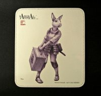 SAMURAI ANIMALS-  Leather Mouse Pad  Nina  the Rabbit Samurai *Stopped Production