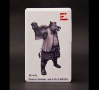 SAMURAI ANIMALS-  Card Type USB Flash Drive (4GB) Silver Ax  the Wild Boar Samurai *Stopped Production