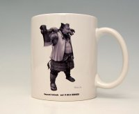 SAMURAI ANIMALS-  Mug - Silver Ax the Wild Boar Samurai *Stopped Production.
