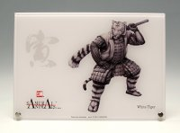 SAMURAI ANIMALS-  Acrylic Panel Series -White Tiger  *Stopped Production