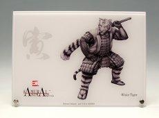Photo1: SAMURAI ANIMALS-  Acrylic Panel Series -White Tiger  *Stopped Production (1)