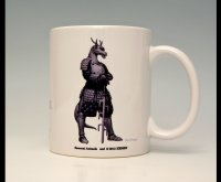 SAMURAI ANIMALS-  Mug - Blue Dragon the Dragon Samurai *Stopped Production.