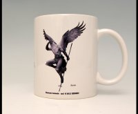 SAMURAI ANIMALS-  Mug - Arrow the Bird Samurai *Stopped Production.