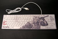 SAMURAI ANIMALS-  Keyboard -White Tiger *Stopped Production.