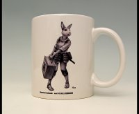 SAMURAI ANIMALS-  Mug - Nina the Rabbit Samurai  *Stopped Production.