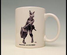 Photo1: SAMURAI ANIMALS-  Mug - Nina the Rabbit Samurai  *Stopped Production. (1)