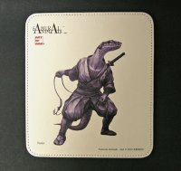 SAMURAI ANIMALS-  Leather Mouse Pad Snake  the Snake Samurai *Stopped Production
