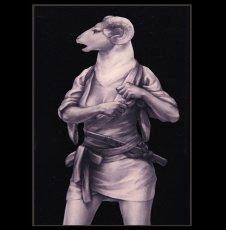 Photo2: SAMURAI ANIMALS-  Acrylic Panel Series  -Lynn *Stopped Production (2)