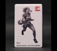 SAMURAI ANIMALS-  Card Type USB Flash Drive (4GB) Batou  the Horse Samurai *Stopped Production.