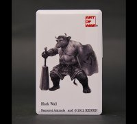 SAMURAI ANIMALS-  Card Type USB Flash Drive (4GB) Black Wall  the Bull Samurai *Stopped Production.