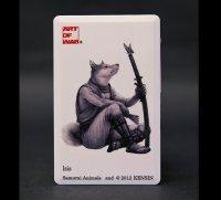SAMURAI ANIMALS-  Card Type USB Flash Drive (4GB)  Isis  the Dog Samurai *Stopped Production