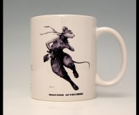 SAMURAI ANIMALS-  Mug - Hanzo the Rat Samurai  *Stopped Production.