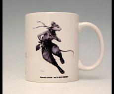 Photo1: SAMURAI ANIMALS-  Mug - Hanzo the Rat Samurai  *Stopped Production. (1)