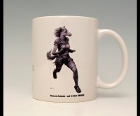 SAMURAI ANIMALS-  Mug - Batou the Horse Samurai  *Stopped Production.