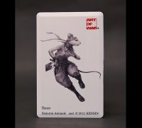 SAMURAI ANIMALS-  Card Type USB Flash Drive (4GB) Hanzo the Rat Samurai *Stopped Production.