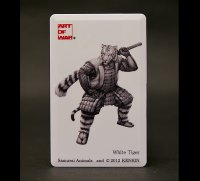 SAMURAI ANIMALS-  Card Type USB Flash Drive (4GB)  White Tiger  the Tiger Samurai *Stopped Production.