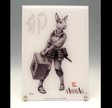 Photo1: SAMURAI ANIMALS-  Acrylic Panel Series - Nina *Stopped Production (1)