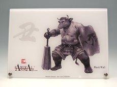 Photo1: SAMURAI ANIMALS-  Acrylic Panel Series -Black Wall  *Stopped Production (1)