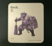 SAMURAI ANIMALS-  Leather Mouse Pad - Black Wall the Bull Samurai *Stopped Production