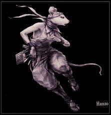 Photo2: SAMURAI ANIMALS-  Acrylic Panel Series -Hanzo *Stopped Production (2)