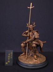 Photo5: Classic Historical Statue - Yukimura Sanada *Bronze Color Version (5)