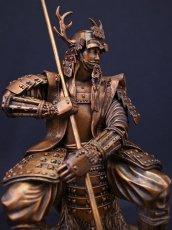 Photo3: Classic Historical Statue - Yukimura Sanada *Bronze Color Version (3)