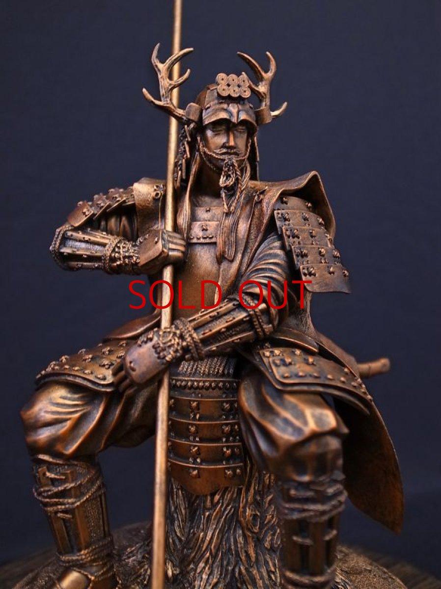Photo1: Classic Historical Statue - Yukimura Sanada *Bronze Color Version (1)