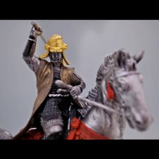Photo5: Classic Historical Statue - Uesugi Kensin in Kawanakajima Battle*Gold Leaf Version (5)