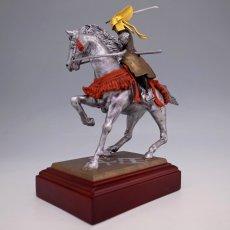 Photo3: Classic Historical Statue - Uesugi Kensin in Kawanakajima Battle*Gold Leaf Version (3)
