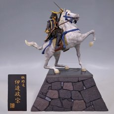 Photo1: Historical Equestrian Statue- Date Masamune*Riding on a Horse (Commemoration of 450 years of birth anniversary)  (1)