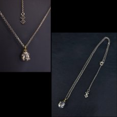 Photo3: No. 454 Beherit Silver Chain Pendant (Egg of the King/Eclipse) (3)