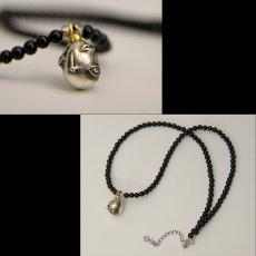 Photo3: No.274 Beherit Silver Pendant: Egg of the king (Onyx Version)*attachment of brand stigma (3)