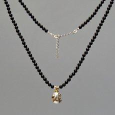 Photo4: No.274 Beherit Silver Pendant: Egg of the king (Onyx Version)*attachment of brand stigma (4)