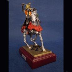 Photo2: Classic Historical Statue - Uesugi Kensin in Kawanakajima Battle*Vermilion Battle Surcoat!! (2)